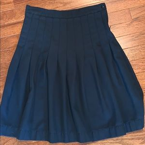Land's End pleated skirt